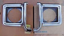 NOS 1973 1978 Chevy Truck HEADLIGHT BEZELS Doors Original GM OEM pair GMC pickup