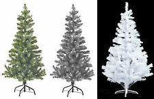 Artificial Christmas Tree Green,White & Black 2,3,4,5& 6 FT Xmas Decorations