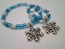 """Snowflake bracelets matching girl and 18"""" doll jewelry accessory"""