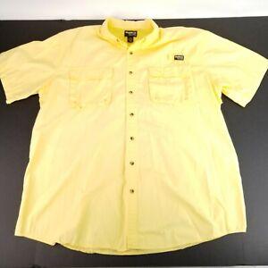 Gander Mountain Guide Series Mens 2XLT Yellow Vent Cape Back SS Fishing Shirt