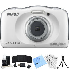 Nikon COOLPIX S33 13.2MP Waterproof Digital Camera + 6 Piece Accessory Bundle