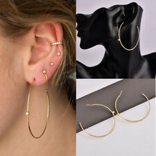 Big Large Hoop C Shape Gold Drop Plated Earrings Sexy Women  Fashion New
