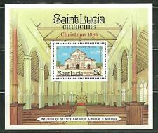 ST LUCIA 871 MNH S/S ST LUCY CATHOLIC CHURCH, MICOUD