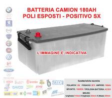 BATTERIA PER CAMION TRUCK 12V 180 AH POSITIVO SX 1000A SPUNTO 513x222x220