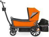 Veer All Terrain Cruiser Twin Kids Double Stroller Wagon Orange NEW