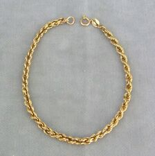 Kordel Gold Armband 375 / 9 C Gelbgold 2,2 g ✹KEIN Altgold / Bruchgold✹18 cm