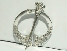 1939 Celtic Sterling Silver Penannular / Kilt Pin