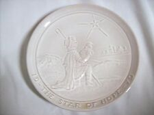 Frankoma Pottery ~ Christmas Plate ~ 1979 ~ The Star of Hope ~ Signed ~ Sand