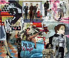 Collage rétro vintage sur chassis entoilé 55x46 cm - Pin up 2