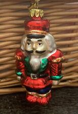 "Collectible Glass Nutcracker Christmas Ornament - 3 1/4"" Tall"