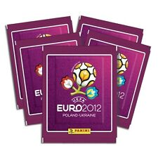EURO 2012 STICKERS - 10 PACKETS - OFFICIAL PANINI STICKER ALBUM COLLECTION -