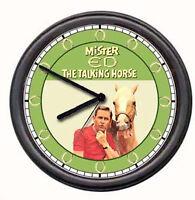 Mr Mister Ed The Talking Horse TV Show Equestrian Cowboy Barn Sign Wall Clock