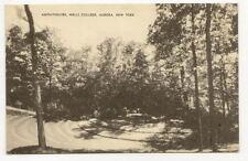 AURORA NY Wells College Amphitheatre Vtg B&W Postcard