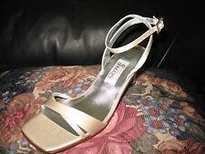 Zapatos de salón Charlotte medio puntera abierta Seda elige color Med 5 7.5 10