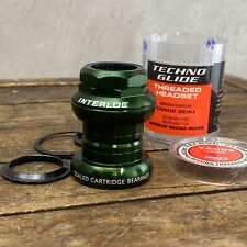 "NOS Tange Headset Sealed GREEN Interloc IRD 1"" Threaded Rasta Vintage MTB H2"