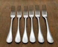 CHRISTOFLE FRENCH PERLE DINNER FORKS SET OF SIX