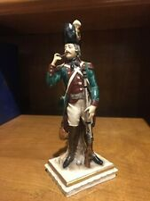 Fabulous Antique Capodimonte Soldier Figurine - 19th century - HIGHLY DETAILED!