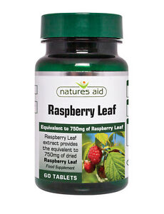 Natures Aid Raspberry Leaf Extract Equiv. to 750mg of Raspberry Leaf  60 Tablets