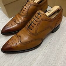 Authentic Christian Louboutin Brown leather shoes 8UK 8 42