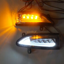 LED Rear-view Mirror Lights; Turn Signals for Nissan Sentra Sylphy Livina Tiida