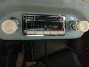NEW Car Radio Vintage look Becker style PORSCHE 356 AM FM iPod with IVORY Knobs