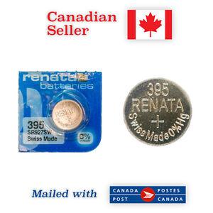 395 NEW! Renata Silver Oxide 1.55V Battery - 399, SR927SW, 280-48, SR57, SB-AP