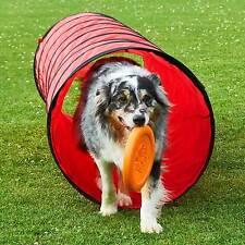 Spiel- und Spaß-Tunnel, rot, 3 m lang, ø 60 cm, Neu Agility Superhund24