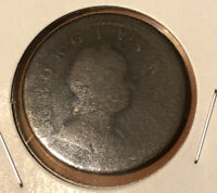 1724 Great Britain King George I  1/2 Penny Collectible Coin~KM#755
