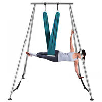 Yoga Swing Aerial Hommock Stand Fitness Gym Frame Indoor w/6m Aerial Hommock