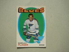1971/72 O-PEE-CHEE NHL HOCKEY CARD #66 BARCLAY PLAGER EX/NM SHARP!! 71/72 OPC