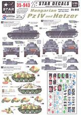 Star Decals 1/35 HUNGARIAN PANZER IV AND HETZER TANKS