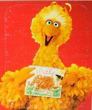 Vintage Big Bird Portrait Snuffy Sesame Street Muppets Frame Tray Puzzle 1986