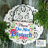 DECO Mini Fun Sign Do Not Disturb SIGN Door Knob or Bell hanger USA Ornament NEW