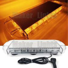 """21.6"""" 60 LED Emergency Beacon Wrecker Truck Flash Warning Strobe Light Bar Amber"""