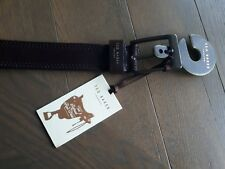 TED BAKER BELT 34 NEW / BNWT CHOCOLATE RRP £49 MADE IN ITALY BROWN