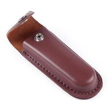 Fodero Custodia Pelle Marrone Guaine per Coltello Sheath Folding Knife Pouch