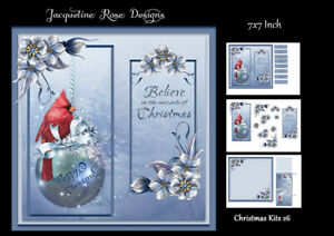 Christmas Kits 26 Decoupage 3 A4 Sheets NOT-DIE-CUT