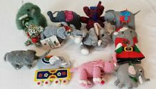 Circus Elephants Christmas Ornaments - cloth and other material - Lot of 12