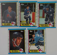 1989-90 Topps Quebec Nordiques Team Set of 5 Hockey Cards