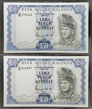 Malaysia 1976, 3rd Series Rm50 GEF-AU x 2 pcs