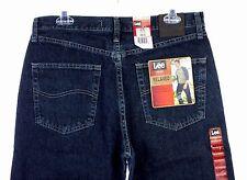 NWT Men's LEE Dark Quartz Relaxed Fit Slightly Tapered Leg Denim Jeans 33 X 32