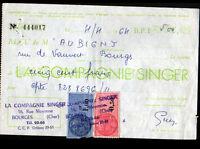 """BOURGES (18) MACHINES à COUDRE """"Cie SINGER"""" en 1964"""