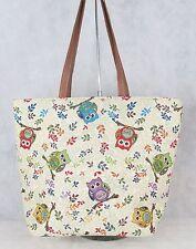 Owl design Large Sized Tapestry Hand Bag - Shoulder Bag Signare