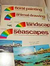 Step by Step Painting Booklets set of 4 Flora,animal, landscapes & Seascapes