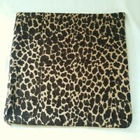 Leopard Cheetah Pillow Covers Print Throw Accent Covers Zipper Tapestry Material