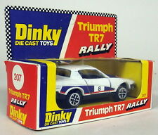 Dinky Toys 1/43 Appx Scale Vintage 207 Triumph TR7 Rally Race car + Original Box