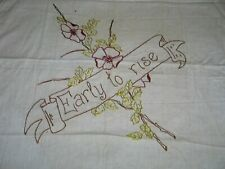 Antique Victorian Layover Pillow Sham-Hand Embroidered Dogwood flowers