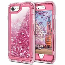 For iPhone SE 2nd (2020) 8 7 6s 6 Glitter Liquid Shockproof Quicksand Case Cover