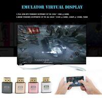 Mini VGA Virtual Display Adapter HDMI 1.4 DDC EDID Dummy Plug Display Emulator*