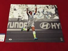 CARLI LLOYD usa womens soccer signed PSA/DNA 16X20 world cup champ 5 hat trick